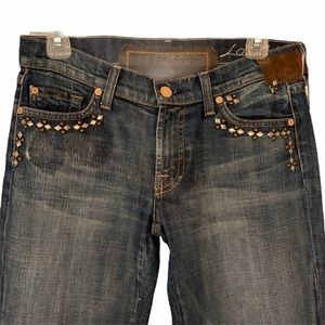 NWT 7 For All Mankind Rare Embellished Size 27 Lng